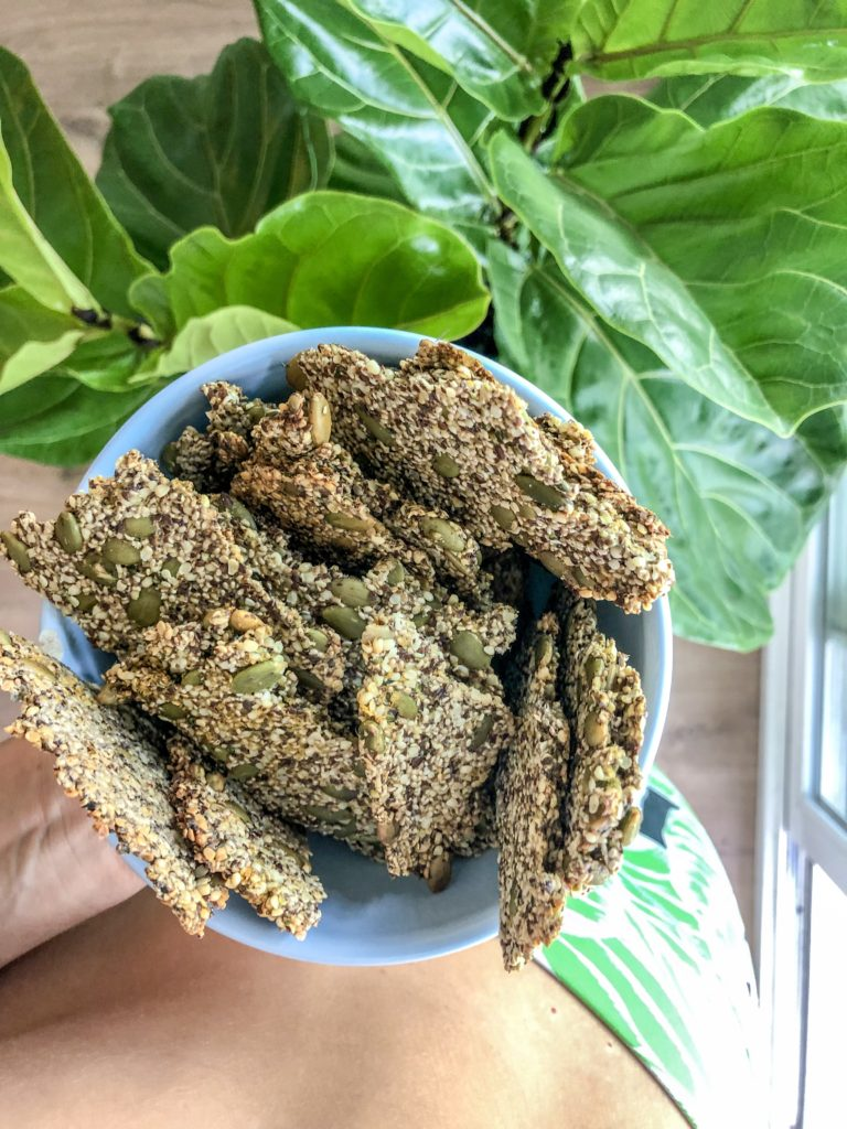 High Fiber (Low Budget) Seed Crackers